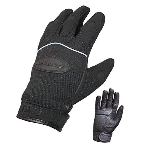 Olympia 712 Gel Reflector Ladies Motorcycle Gloves Black Medium