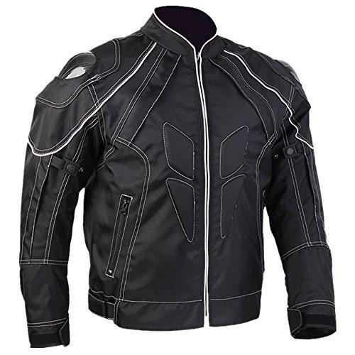 ILM Motorcycle Jackets Carbon Fiber Armor Shoulder Moto Jacket for Men and Women S BLACK