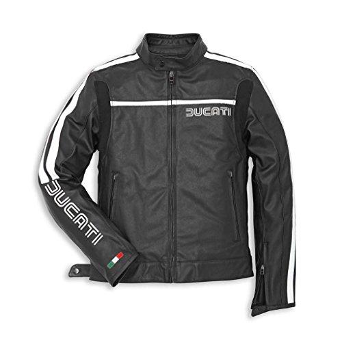 Ducati 981022250 80s Leather Riding Jacket - Black - Size 50