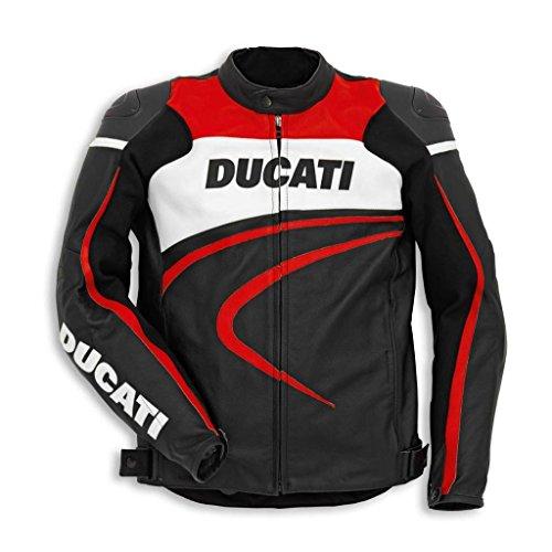 Ducati 981028454 Sport C2 Leather Riding Jacket - Black - Size 54
