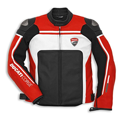 Ducati 981029954 Corse C2 Perforated Leather Riding Jacket - Red - Size 54