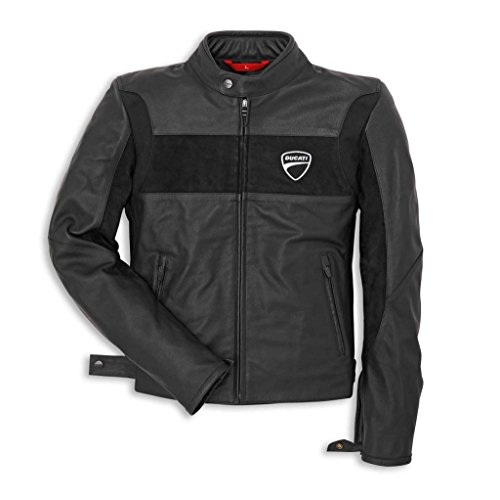 Ducati Company 981019006 Leather Riding Jacket - Black - X-Large