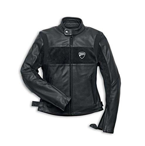 Ducati Company 981019104 Womens Leather Riding Jacket - Medium