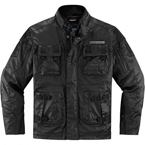 Icon Forestall Leather Riding Jacket Black Lg 2820-3517