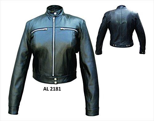 Ladies Lambskin Leather Riding Jacket - XL - AL2181
