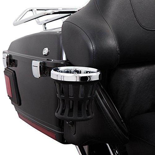 Ciro 50422 Drink Holder Chrome Passenger For 2014-2016 Harley-Davidson Ultra Touring Models With Tour-Pak