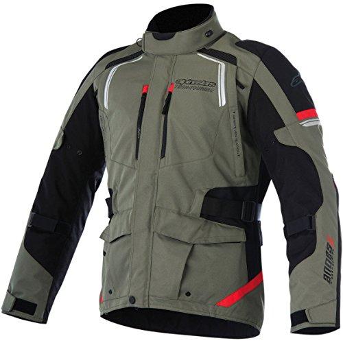 Alpinestars Andes V2 Drystar Mens Street Motorcycle Jackets - GreenBlackRed  Large