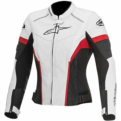 Alpinestars GP Plus R Perforated Womens Street Motorcycle Jackets - WhiteBlackRed  40