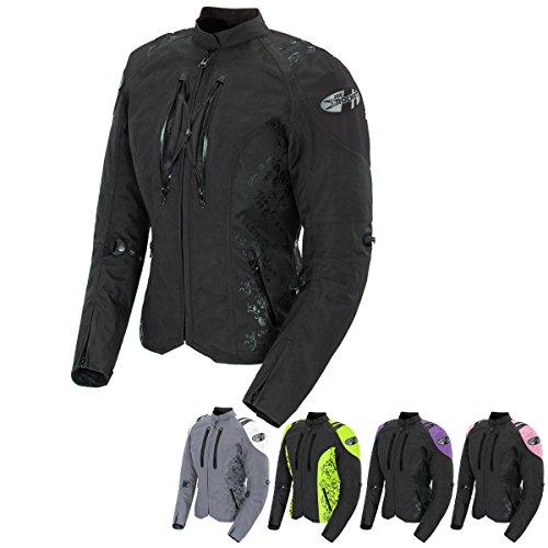 Joe Rocket Atomic 40 Womens Textile Street Motorcycle Jacket - BlackPurple  Medium