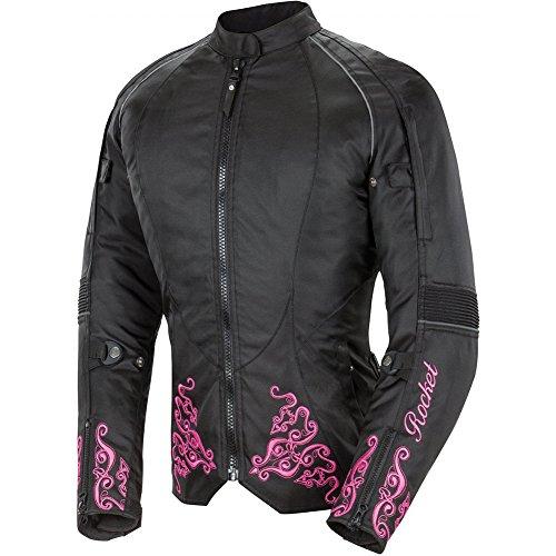 Joe Rocket Heartbreaker 30 Womens Textile Street Motorcycle Jacket - BlackPink  Small