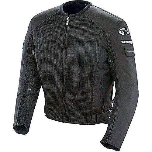 Joe Rocket Recon Mesh Military Spec Mens Textile Street Motorcycle Jacket - BlackBlack  X-Large