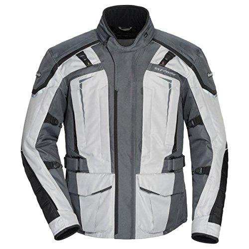 Tour Master Transition 5 Mens Textile Street Motorcycle Jacket - Light GreyGunmetal Medium