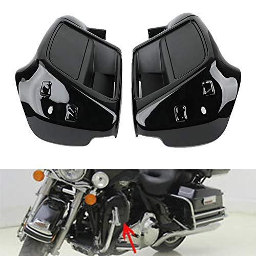 Vivid Black Lower Vented Leg Fairing Cap Glove Box For Harley-Davidson Touring Road King Street Glide Road Glide Electra Glide org equipment on FLHTCU 2014-2020
