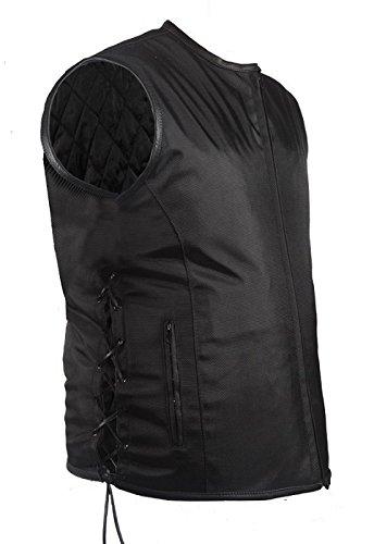 Mens Textile Vest Leather Trim Gun Pocket Size 3XL XXX-Large 56-58