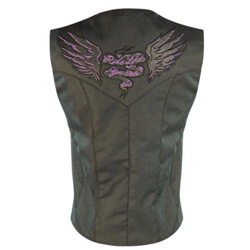 Xelement Womens Ride Like You Stole It Doublon Textile Vest - X-Large
