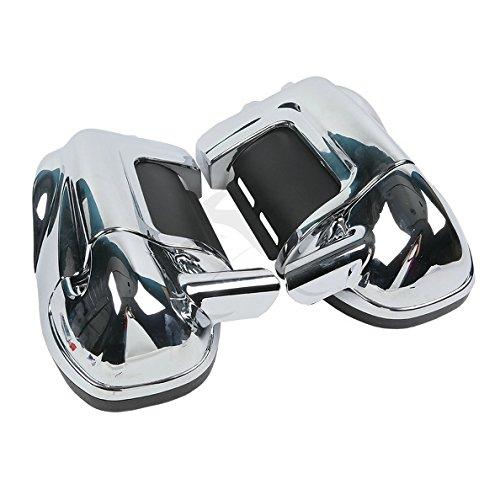 TCMT Chrome Glove Box Lower Vented Leg Fairings For Harley Touring Road King Electra Glide FLHR FLHT