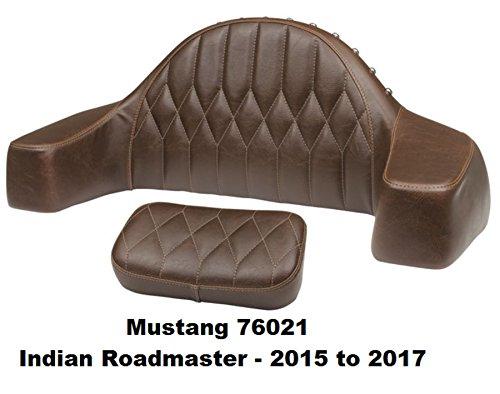 Mustange Seats 76021 Trunk-mounted Passenger BackrestArmrest Brown for Indian Roadmaster 2015-17 Orange Cycle Parts