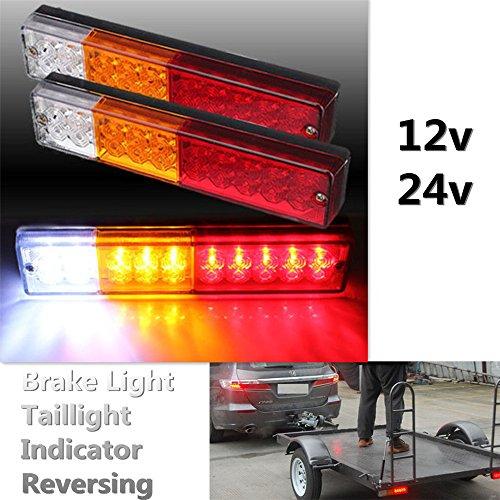 Ronben 20 LED ATV TRUCK TRAILER BRAKE REAR TAIL REVERSE LIGHT TURN INDICATOR 10-30VPack of 2