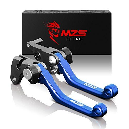 MZS CNC Pivot Brake Clutch Levers for Yamaha WR250F 2001-2017WR450F 2005-2017 Blue