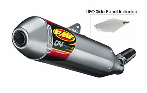 FMF Q4 Spark Arrestor Slip-On Exhaust Aluminum for 08-18 Yamaha WR250R