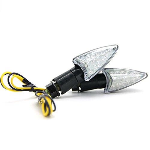 Motorcycle 2pcs LED Turn Signal Light Indicator Lamp Amber Color for YAMAHA YZF R1 R6 FZ1 FZ6 Fazer XJ6 YBR 125 250