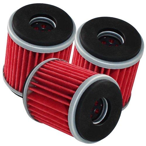 Caltric 3-PACK Oil Filter Fits YAMAHA 250 YZ250F YZ250FB 125 YZFR125 YZ250 450 WR450F XT250 2003-2014