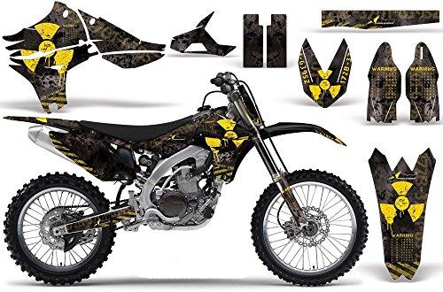 2010-2013 Yamaha YZF 450 AMRRACING ATV Graphics Decal Kit-Meltdown-Yellow-Black