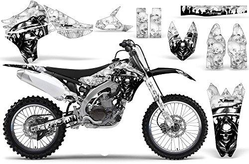 2010-2013 Yamaha YZF 450 AMRRACING ATV Graphics Decal Kit-Reaper-White