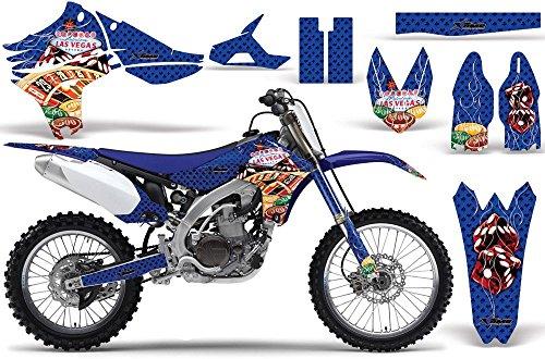 2010-2013 Yamaha YZF 450 AMRRACING ATV Graphics Decal Kit-Vegas Baller-Blue