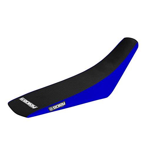 Enjoy MFG 2006 - 2012 Yamaha WR 450 F Blue Sides  Black Top Full Gripper Seat Cover