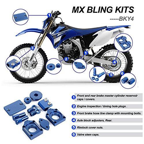 TARAZON Billet CNC Blue Bling Kits for Yamaha WR 450 F WR450F WR F 450 2012 2013