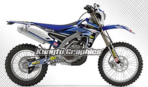 Kungfu Graphics Custom Decal Kit for Yamaha YZ450FX 2016 2017 2018 Blue Black