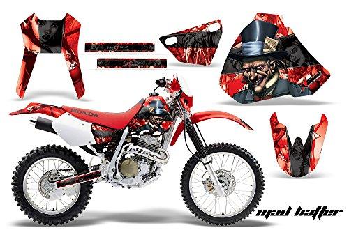 Honda XR400 1996-2004 MX Dirt Bike Graphic Kit Sticker Decals XR 400 HATTER BLACK
