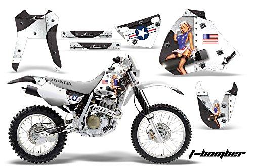 Honda XR400 1996-2004 MX Dirt Bike Graphic Kit Sticker Decals XR 400 TBOMB WHITE