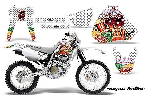 Honda XR400 1996-2004 MX Dirt Bike Graphic Kit Sticker Decals XR 400 VEGAS WHITE