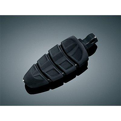 Kuryakyn 4317 Gloss Black Kinetic Footpeg with Harley Male Adapter KU 4317