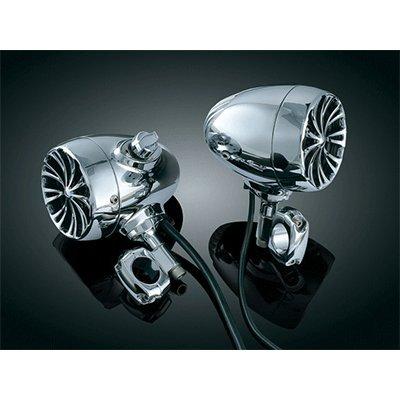 Kuryakyn 834 Bluetooth Sound of Chrome Speakers for Harley 1 in Handlebars 834
