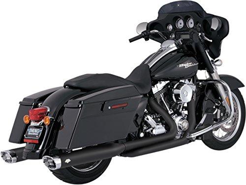 Vance Hines Blk Dresser Dual Header System for Harley-Davidson FL 09-16 16752