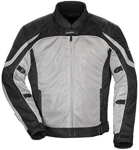 TourMaster Mens Intake Air 40 Jacket SilverBlack Large