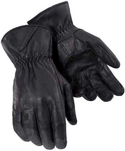 Tourmaster Mens Black Leather Select Summer Gloves - Medium