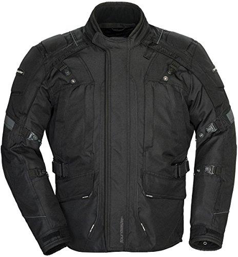 Tourmaster Transition Series 4 Mens Textile Motorcycle Touring Jacket Black Large