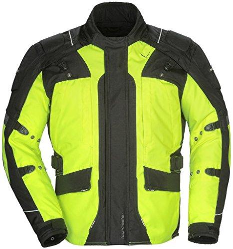 Tourmaster Transition Series 4 Mens Textile Motorcycle Touring Jacket Hi-VizBlack XX-Large