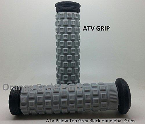 ATV Pillow Top Hand Grips Grey Black Handlebar Grip