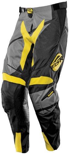 MSR Racing Renegade Mens Dirt Bike Motorcycle Pants - BlackGreyYellow  Size 30