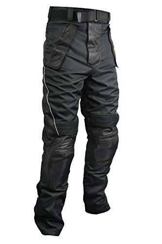 Xelement CF2131 Mens Black Tri-TexLeather Motorcycle Racing Pants - 30