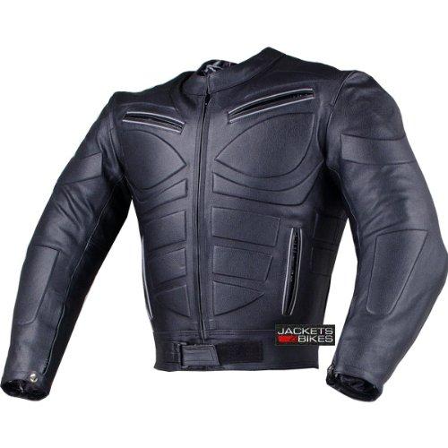 Mens Blade Motorcycle Riding Leather Armor Biker Ventilated Jacket Black L