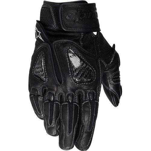 Alpinestars Sps Men's Leather Sports Bike Racing Motorcycle Gloves - Color: Black, Size: Medium