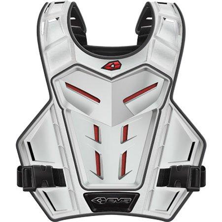 EVS Revolution 4 Phantom Youth Roost Guard MotocrossOff-RoadDirt Bike Motorcycle Body Armor - White  One Size
