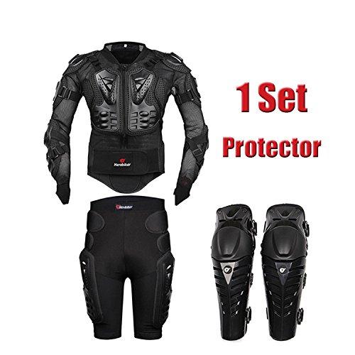 HEROBIKER MC1012 Black Motorcycle Body Armor Motocross Armour Motorcycle Jackets Gears Short Pantsprotective Motocycle Knee Pad