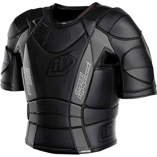 Troy Lee Designs BP 7850-HW Shirt Adult Undergarment Dirt Bike Motorcycle Body Armor w Free B&F Heart Sticker - Black  Large